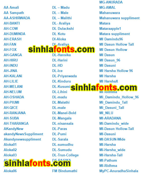 Download Download සිංහල DL FM MI Fonts Collections » Free Sinhala ...
