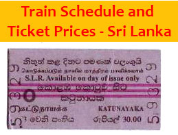 Reservations - Sri Lanka Railways